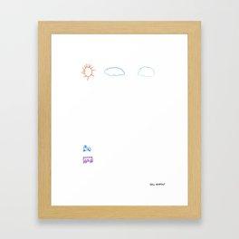 Sunny Car Scene Framed Art Print