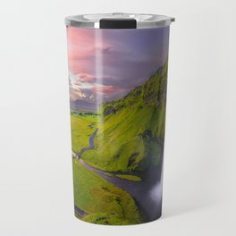 Seljalandsfoss, Iceland waterfall Travel Mug