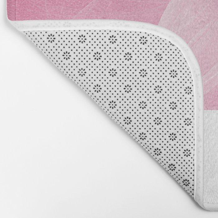 Pink Fairy Blossom Fractal Bath Mat