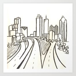 Atlanta - Jackson St. Bridge Art Print