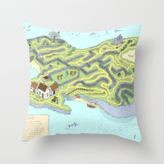 Eagle Island Maze Throw Pillow