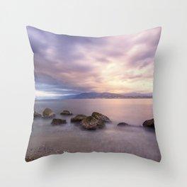 Long exposure seascape Throw Pillow
