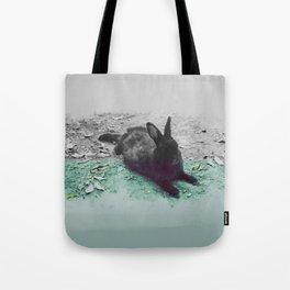 Blue Rabbit Tote Bag