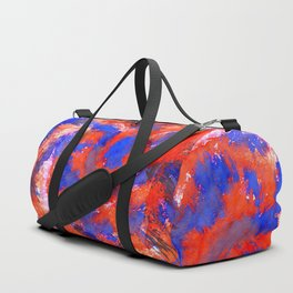 Red Blue Background Duffle Bag