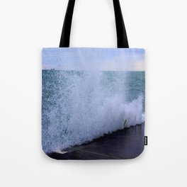 Lake Michigan Natural Fountains #1 (Chicago Waves Collection) Tote Bag