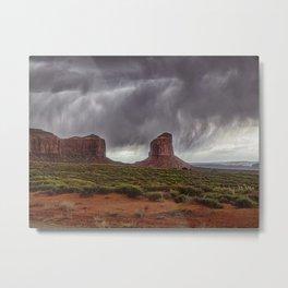 Storm at Monument Valley - Utah Metal Print