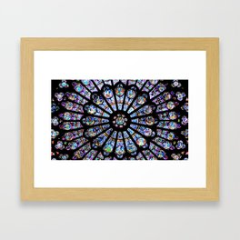 Cathedral Stained Glass Framed Art Print