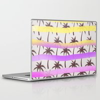 palm trees Laptop & iPad Skins featuring Palm Trees by Ornaart