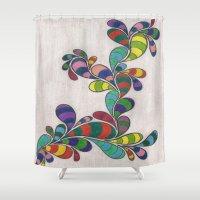dr seuss Shower Curtains featuring Dr. Seuss 3 by Sarah J Bierman