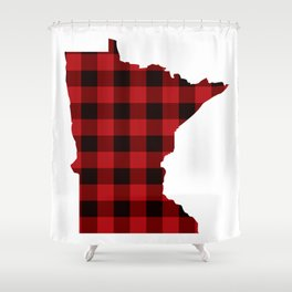 Minnesotans Love Flannel Shower Curtain