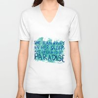 """coldplay V-neck T-shirts featuring """"She Dreamed of Paradise""""-Coldplay by Fabfari"""