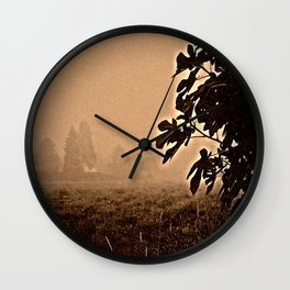fig leaves in autumn Wall Clock