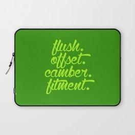 flush offset camber fitment v2 HQvector Laptop Sleeve