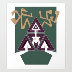DEERHORN Art Print