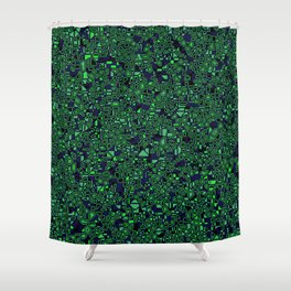 CoriandoliTech 27 Shower Curtain