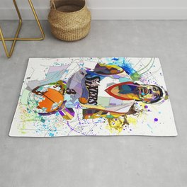 Allen Iverson Watercolor Sports Illustration Print, Basketball Player Poster Rug