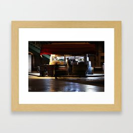 convenience store Framed Art Print
