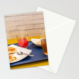 Breakfast with maple syrup pancakes Stationery Cards