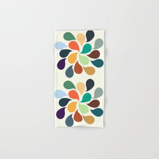 Colorful Water Drops Hand & Bath Towel