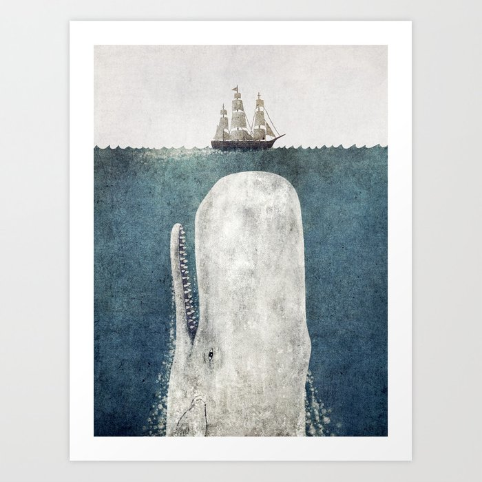 The Whale Vintage Art Print By Igo2cairo Society6