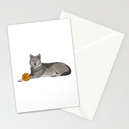 Basketball Wolf Stationery Cards