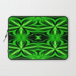 Vivid Green Electric Flower Pattern Laptop Sleeve