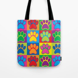 Pop Art Paws Tote Bag