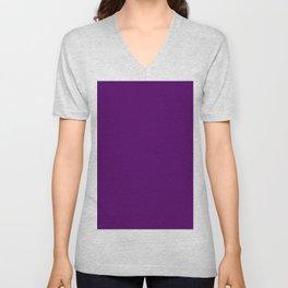 Eggplant Flat Color Unisex V-Neck
