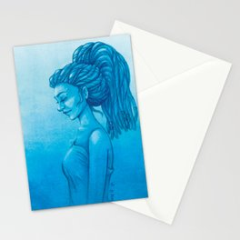 The girl with the dreads Stationery Cards