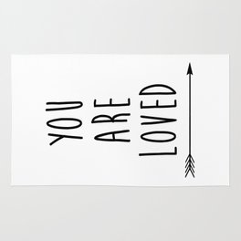 You Are Loved Printable Art, Nursery Art, Black and White Art, Arrow Art, You are So Loved Word Art, Rug