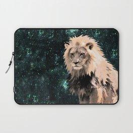 Lion King of the Emerald Panthera Galaxy Laptop Sleeve