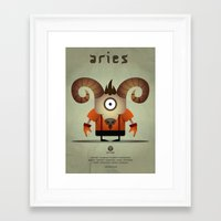 aries Framed Art Prints featuring ARIES by Angelo Cerantola