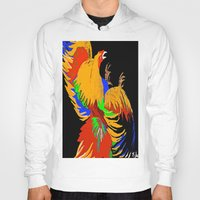 cock Hoodies featuring Cock Fight by Saundra Myles