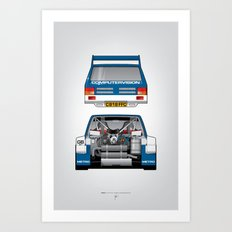 Outline Series N.º7, MG Metro 6R4, 1986 Art Print