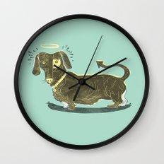 Bad Dog! (The Little Dachshund That Didn't) Wall Clock