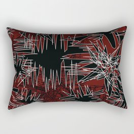 Red Chaos Rectangular Pillow