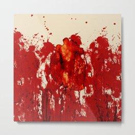 Blood Heart Metal Print