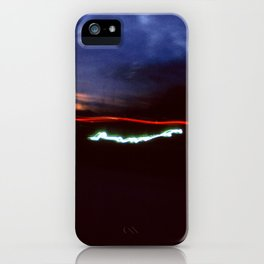 Night Lights Blue Clouds, Tail and Street Light iPhone Case