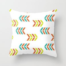 ArrowStrips Throw Pillow