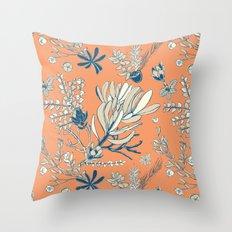 Orange Cradle Flora Throw Pillow