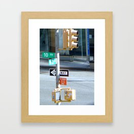 10th and West 23 St Framed Art Print