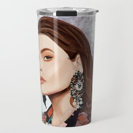 Fashion portrait Travel Mug
