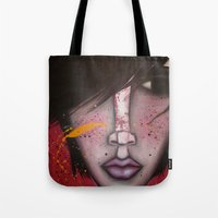 butcher billy Tote Bags featuring BILLY by Sandra Mucciardi