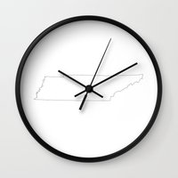 tennessee Wall Clocks featuring Tennessee by mrTidwell