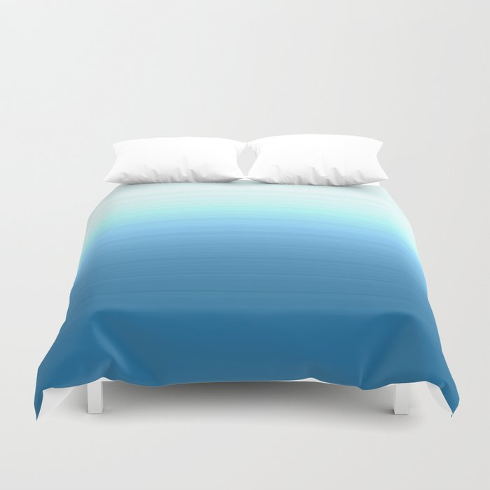 Sea blue Ombre Duvet Cover