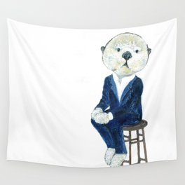 Business Casual Otter Wall Tapestry