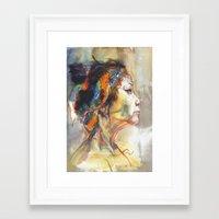 queen Framed Art Prints featuring Queen by Josey Lee
