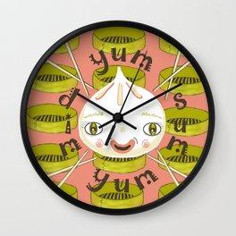 Dim Sum Yum Yum Wall Clock