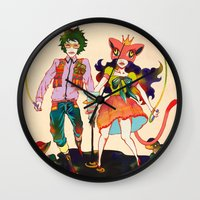 lsd Wall Clocks featuring LSD love by Natsuki Otani