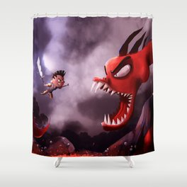 Niko and the Deadly Dragon Shower Curtain